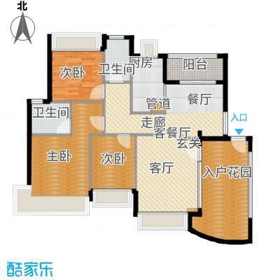 广州雅居乐花园花巷121.31㎡RE3面积12131m户型