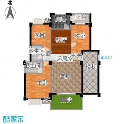 金色华庭143.46㎡1、9栋顶层053面积14346m户型