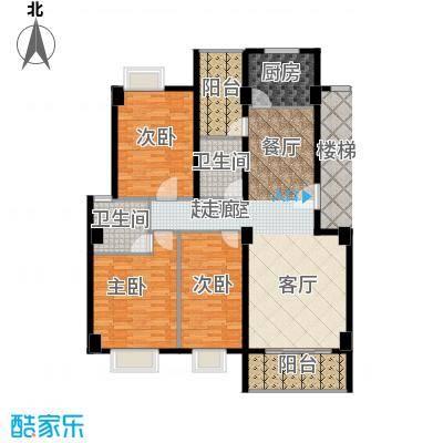 金色华庭134.91㎡8栋顶层032面积13491m户型
