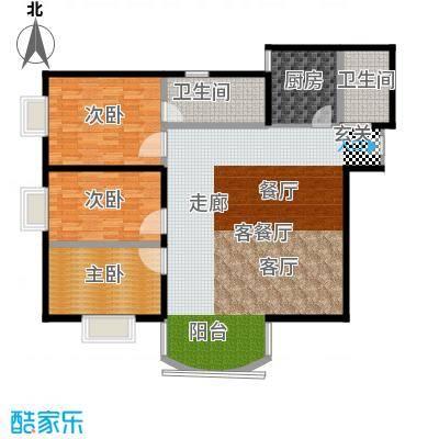 仙湖名苑136.00㎡3面积13600m户型
