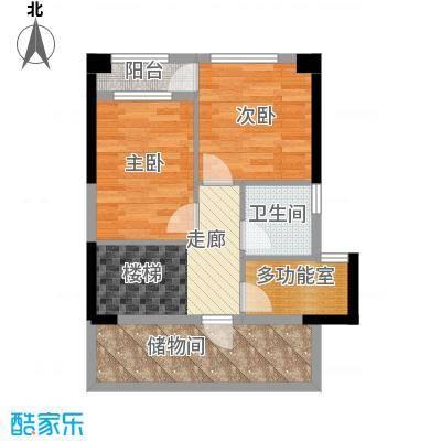 德成长江国际56.00㎡loft上层户型
