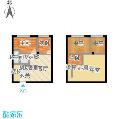 芒果公寓59.30㎡2018~20192021面积5930m户型