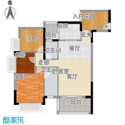 紫泉翠荔嘉园105.99㎡40-41栋A户面积10599m户型
