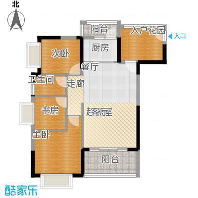 紫泉翠荔嘉园89.40㎡40-41栋E户面积8940m户型