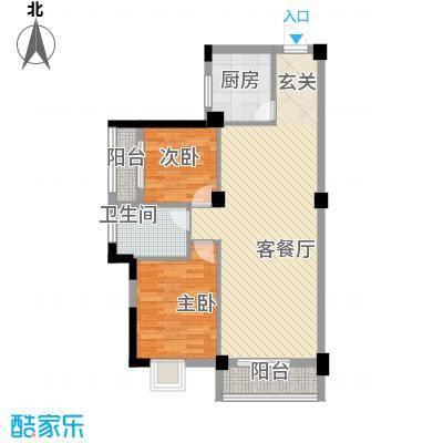 九坤翰林苑90.94㎡5#楼D3户型