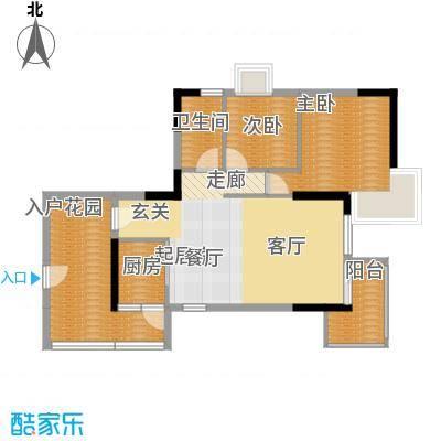 紫泉翠荔嘉园80.65㎡40-41栋F户面积8065m户型