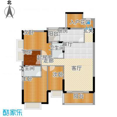 紫泉翠荔嘉园136.64㎡A1单元面积13664m户型