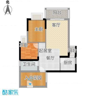 紫泉翠荔嘉园76.23㎡40-41栋C户面积7623m户型