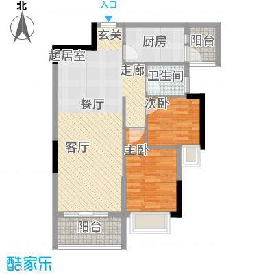 紫泉翠荔嘉园77.81㎡40-41栋G户面积7781m户型