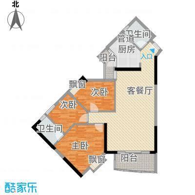 江南苑121.36㎡C栋02单元3室面积12136m户型