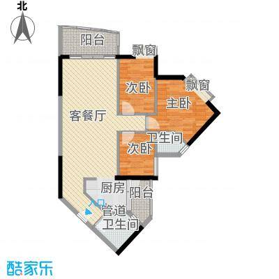 江南苑103.08㎡C栋08单元3室面积10308m户型