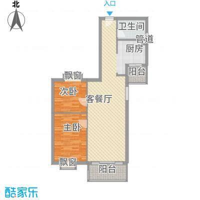 江南苑97.35㎡B栋5-21层03单位面积9735m户型