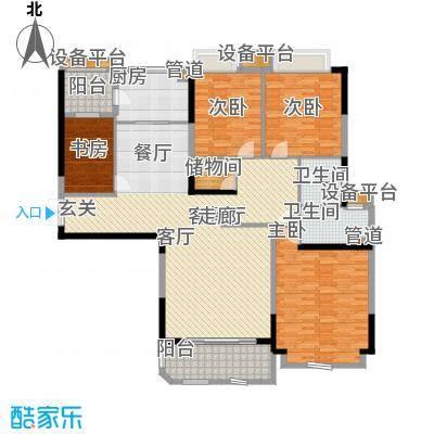 珠江帝景华苑172.00㎡面积17200m户型
