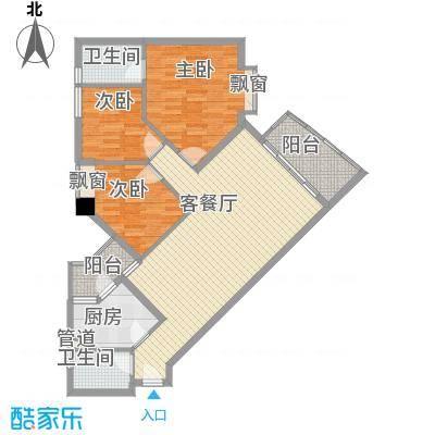 江南苑119.43㎡B栋5-21层05单位面积11943m户型