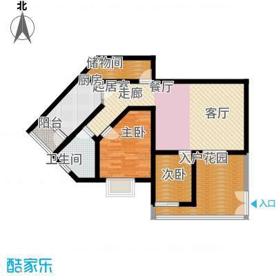 荔城花园81.26㎡1期8栋标准层01面积8126m户型