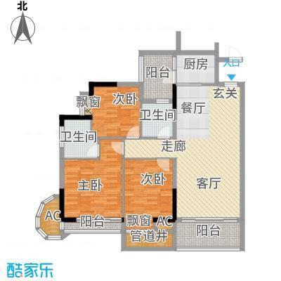 金竹家园111.76㎡1期7幢标准层04面积11176m户型