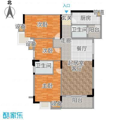 美力盈彩花苑139.70㎡C栋2梯06面积13970m户型