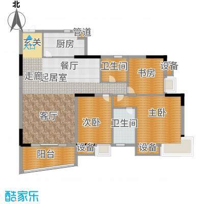 美力盈彩花苑138.48㎡A栋3梯93面积13848m户型