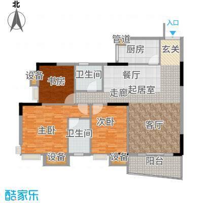美力盈彩花苑138.48㎡A栋1梯02面积13848m户型