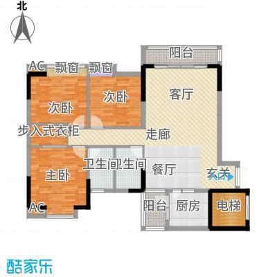 金竹家园122.32㎡1期7幢标准层02面积12232m户型