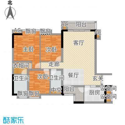 金竹家园124.18㎡1期3幢标准层02面积12418m户型