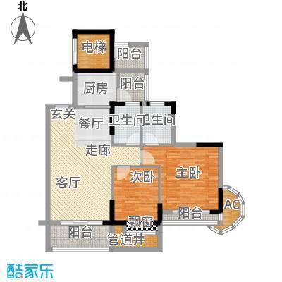 金竹家园90.59㎡1期1幢标准层03面积9059m户型