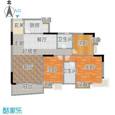美力盈彩花苑138.48㎡A栋1梯01面积13848m户型