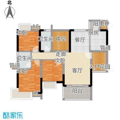 番禺云山诗意111.42㎡A8栋02单元面积11142m户型