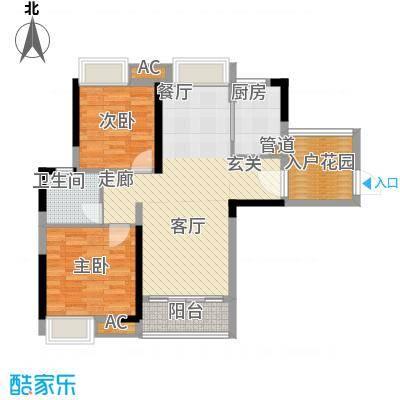番禺云山诗意85.00㎡A1栋3-11层面积8500m户型