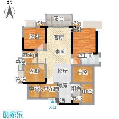 番禺云山诗意113.33㎡A8栋03单元面积11333m户型