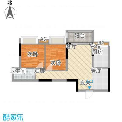 番禺云山诗意74.67㎡A2栋4-16层面积7467m户型