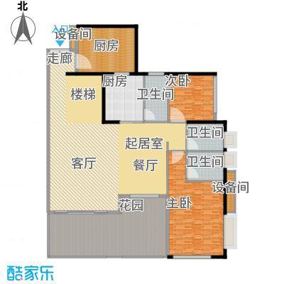城启天鹅湾266.27㎡D栋01复式面积26627m户型