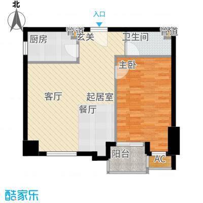 尚德大厦65.27㎡B02十五至二十二面积6527m户型