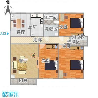 123平三室两厅两卫