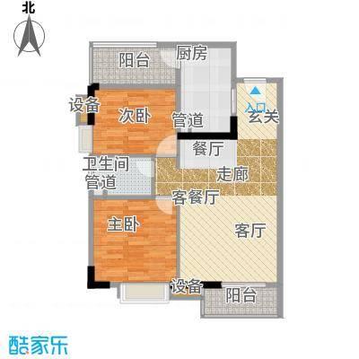 尚东峰景81.00㎡10栋02单位面积8100m户型