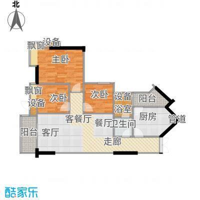 尚东峰景85.00㎡C栋0405单元面积8500m户型
