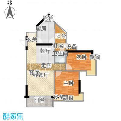尚东峰景78.00㎡C栋0306单元面积7800m户型