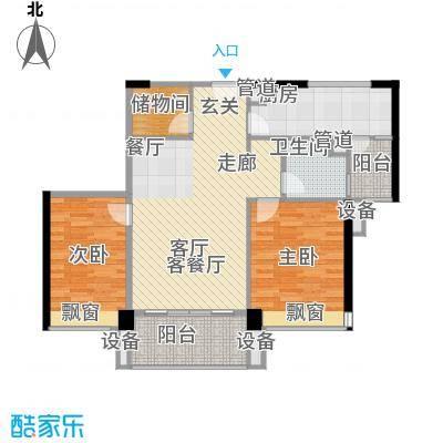 尚东峰景93.95㎡B3栋01单元3室面积9395m户型