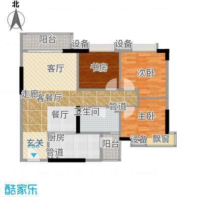 尚东峰景94.00㎡10栋04单位面积9400m户型