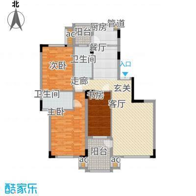大运家园129.42㎡6栋E座2面积12942m户型