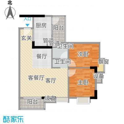 尚东峰景80.00㎡10栋01单位面积8000m户型