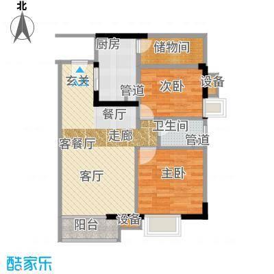 尚东峰景84.00㎡10栋01单位面积8400m户型