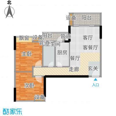 尚东峰景83.00㎡10栋03单位面积8300m户型