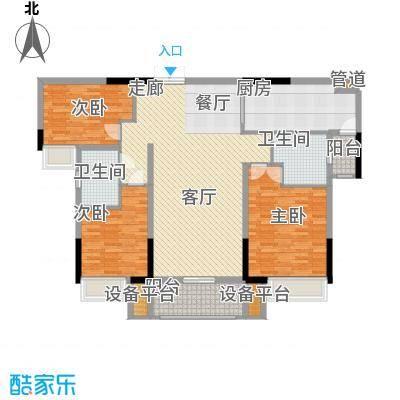 珠江都荟126.34㎡A3栋3-7层02单位面积12634m户型