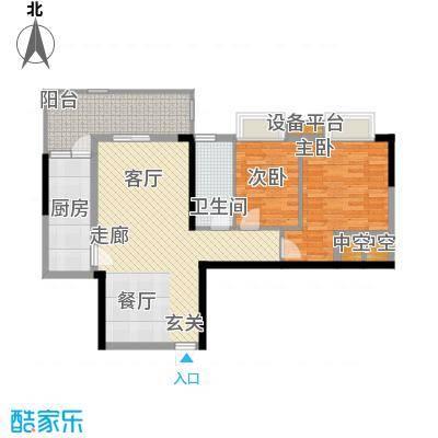 珠江都荟86.85㎡A3栋8-29层04单面积8685m户型