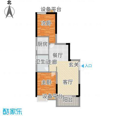 珠江都荟89.89㎡A3栋8-29层03单面积8989m户型