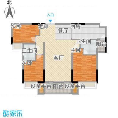 珠江都荟125.99㎡A3栋8-29层02单面积12599m户型