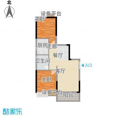 珠江都荟89.89㎡A3栋30-33层03单面积8989m户型