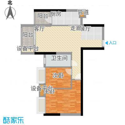 珠江都荟78.00㎡A2-03面积7800m户型