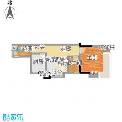 滨江瑞城55.42㎡1面积5542m户型